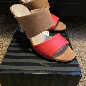 Victoria secret coral and tan heels
